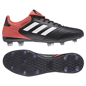 adidas Copa 18.3 FG Soccer Shoes (Black/White/Red)