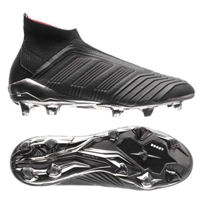adidas  Predator  18+ FG Soccer Shoes (Core Black/Real Coral)