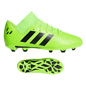 ccdef3657 adidas Youth Lionel Messi Nemeziz 18.3 FG Shoes (Solar Green ...