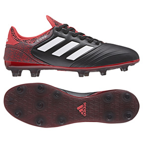adidas Copa 18.2 FG Soccer Shoes (Black/Red/White)