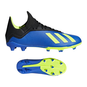 adidas Youth X 18.3 FG Soccer Shoes (Football Blue)