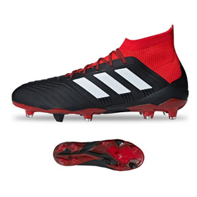 adidas Predator  18.1 FG Soccer Shoes (Core Black/White/Red)