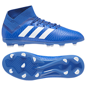 adidas Youth  Nemeziz 18.3 FG Soccer Shoes (Royal/White)