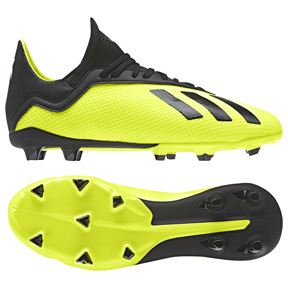 adidas Youth X 18.3 FG Soccer Shoes (Solar Yellow/Black)