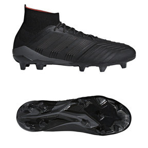 adidas  Predator  18.1 FG Soccer Shoes (Core Black/Real Coral)