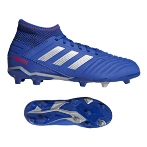 adidas Youth  Predator  19.3 FG Soccer Shoes (Bold Blue/Silver)