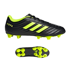 adidas Copa 19.4 FG Soccer Shoes (Core Black/Solar Yellow)