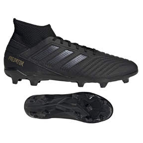 adidas  Predator  19.3 FG Soccer Shoes (Core Black/Gold Metallic)