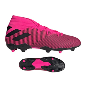 adidas Youth  Messi  Nemeziz 19.3 FG Soccer Shoes (Shock Pink)