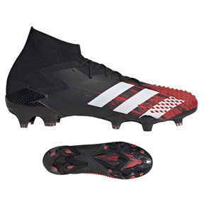 adidas  Predator  Mutator 20.1 FG Soccer Shoes (Black/White/Red)