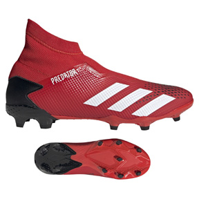 adidas  Predator  20.3 Laceless FG Soccer Shoes (Active Red/White)