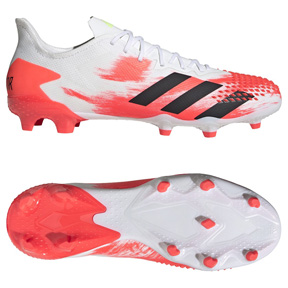 adidas  Predator  20.2 FG Soccer Shoes (Football White/Pop)