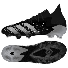 adidas  Predator  Freak.1 FG Soccer Shoes (Black/White)