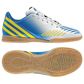 adidas Youth Predito LZ Indoor Soccer Shoes (White/Blue)