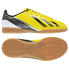 adidas Youth F5 Indoor Soccer Shoes (Vivid Yellow/Black)