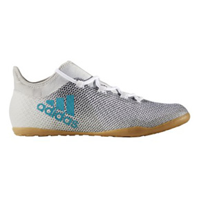 adidas  X  Tango 17.3 Indoor Soccer Shoes (White/Energy Blue)