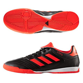 adidas Copa 17.3 Indoor Soccer Shoes (Black/Solar Red)