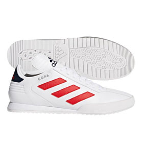 adidas Copa Super Indoor Soccer Shoes (White/Scarlet)
