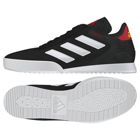 adidas Copa Super Indoor Soccer Shoes (Black/White/Red)