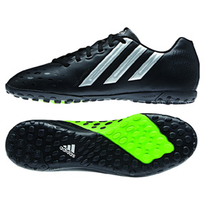 adidas FreeFootball X-ITE Turf Soccer Shoes (Black/Green)