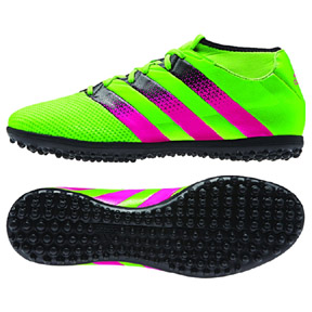 adidas Youth ACE 16.3 PrimeMesh Turf Soccer Shoes (Green/Pink)