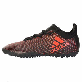 adidas X Tango 17.3 Turf Soccer Shoes (Black/Solar Red)