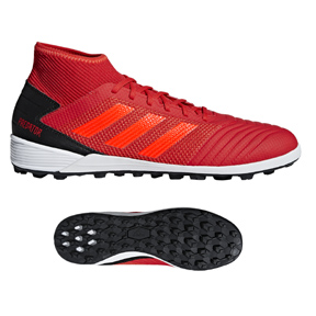 adidas Predator Tango 19.3 Turf Soccer Shoes (Active Red/Black)