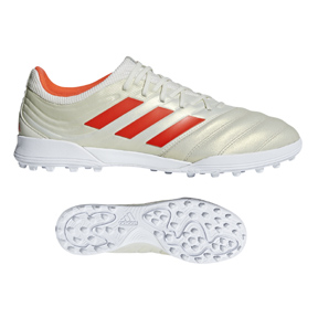 adidas Copa 19.3 Turf Soccer Shoes (Off White/Solar Red)