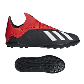 adidas Youth X Tango 18.3 Turf Soccer Shoes (Black/Red/White)
