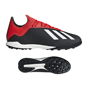 adidas X Tango 18.3 Turf Soccer Shoes (Core Black/Active Red)
