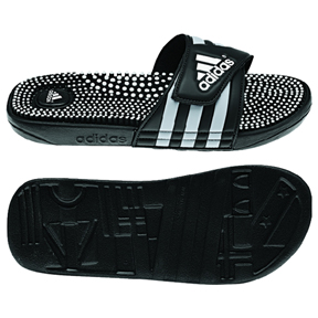 7019a6a3d0394b adidas adissage Fade Soccer Sandal   Slide (Black Silver ...