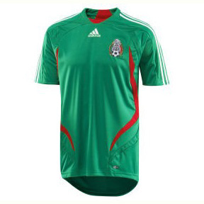 adidas Youth Mexico Soccer Jersey (Home 07/08)