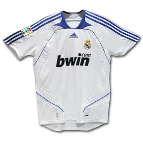 adidas Youth Real Madrid Soccer Jersey (Home 07/08)