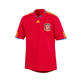 adidas Spain Soccer Jersey (Home 10/11)
