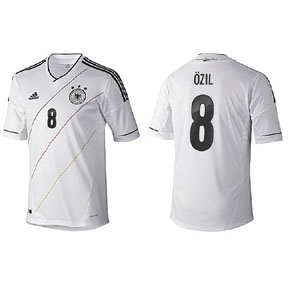 adidas Youth Germany Ozil #8 Soccer Jersey (Home 2012/13)
