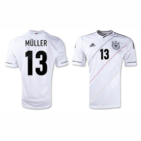 adidas Youth Germany Muller #13 Soccer Jersey (Home 12/13)