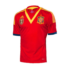 adidas Youth Spain Soccer Jersey (Home 13/14)