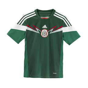 adidas Youth Mexico Soccer Jersey (Home 14/15)