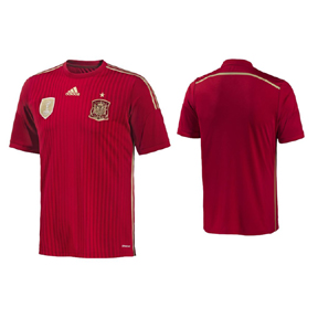 adidas Youth Spain Soccer Jersey (Home 14/15)