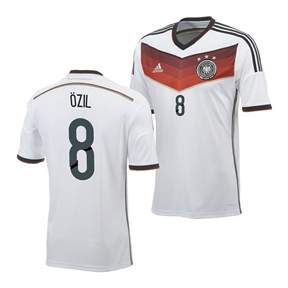 adidas Youth Germany Ozil #8 Soccer Jersey (Home 14/15)