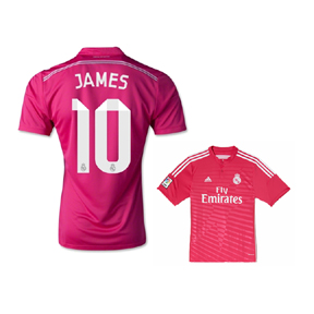 adidas Real Madrid James #10 Soccer Jersey (Away 14/15)