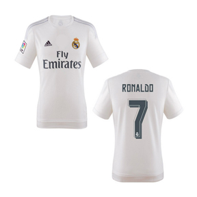adidas Youth Real Madrid Ronaldo #7 Soccer Jersey (Home 15/16)