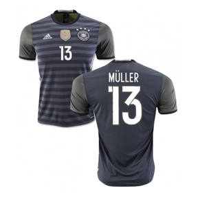 adidas Germany Muller #13 Soccer Jersey (Away 16/17)