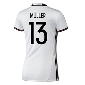 adidas Womens Germany Muller #13 Soccer Jersey (Home 16/17)