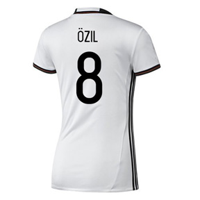 adidas Womens Germany Ozil #8 Soccer Jersey (Home 16/17)