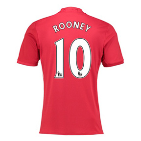 adidas Manchester United Rooney #10 Soccer Jersey (Home 16/17)