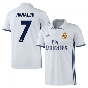 adidas Youth Real Madrid Ronaldo #7 Soccer Jersey (Home 16/17)
