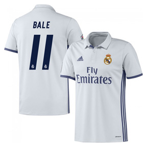 adidas Youth Real Madrid Bale #11 Soccer Jersey (Home 16/17)