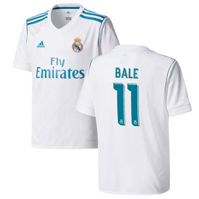 adidas Youth  Real Madrid  Bale #11 Soccer Jersey (Home 17/18)