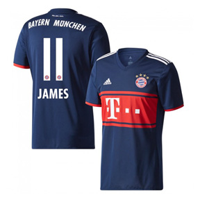 adidas Youth Bayern Munich James #11 Soccer Jersey (Away 17/18)